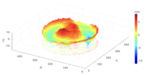 Point diffraction interferometer - Image: Absolute surface form of a lens measured by Difrotec's D7