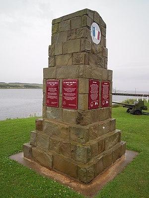 Chéticamp, Nova Scotia - Image: Acadian monument Chéticamp