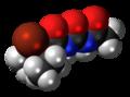 Acecarbromal molecule spacefill.png