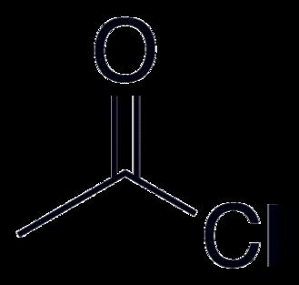 Acetyl chloride - Image: Acetyl chloride 2D Skeletal
