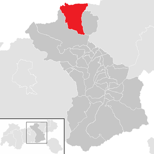 Location of the municipality of Achenkirch in the Schwaz district (clickable map)