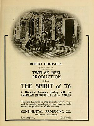 The Spirit of '76 (1917 film) - Advertisement for movie