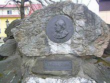 Adalbert Stifter memorial plaque in Frymburk (CZ) .JPG
