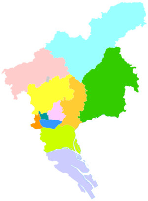 Tianhe District - Image: Administrative Division Guangzhou
