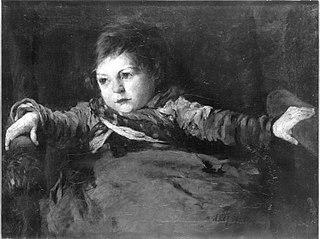 Bildnis eines kleinen Mädchens im Lehnstuhl