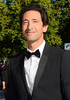 At age 29, Adrien Brody became the youngest actor to win this award for his portrayal of Wladyslaw Szpilman in The Pianist (2002). Adrien Brody Cannes 2014.jpg