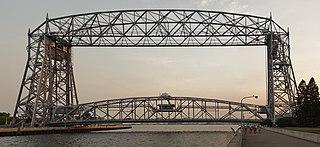 Aerial Lift Bridge transporter bridge in Duluth, Minnesota