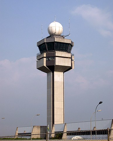 Tower at Guarulhos By Bruno Dantas (Self-photographed) [Public domain], via Wikimedia Commons