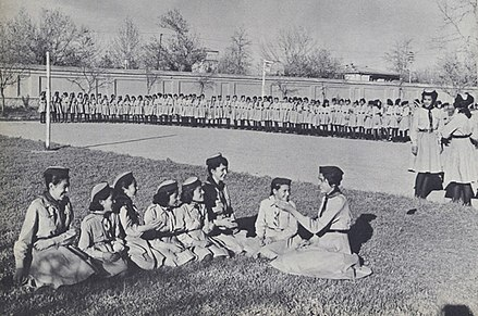 Afghanistan Scout Association in 1950s Afghan Girl Scouts 1950s.jpg