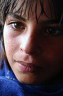 Девушка из пуштунского племени в Кабуле