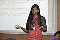 Afifa Afrin Discussing - Women Involvement in Bengali Wikipedia - Bengali Wikipedia 10th Anniversary Celebration - Daffodil International University - Dhaka 2015-05-30 1635.JPG