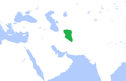 The Afsharid dynasty near its end, as its authority is reduced to the province of Khorasan Afsharid dynasty final stages.png