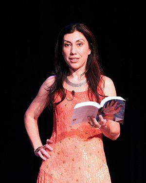 Oksana Marafioti - Oksana Marafioti reading an excerpt from her book, American Gypsy, at the book launch