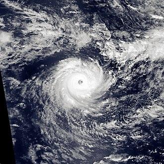 1995–96 South-West Indian Ocean cyclone season - Image: Agnielle Nov 20 1995 0753Z