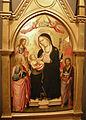 Agnolo gaddi, madonna col bambino, san giovanni evangelista, battista, san jacopo e san nicola di bari, 1388-90 02.JPG