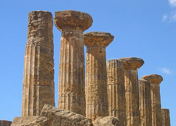 "Temple of Heracles (temple A) in Agrigento""."