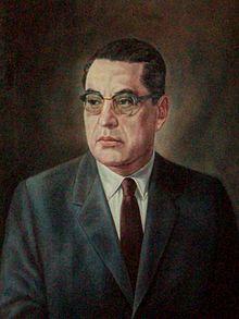 Pintura al óleo de Agustín Yáñez en la sala de gobernadores en el