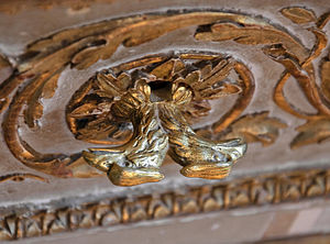 Drawer pull - Drawer pull in the shape of a double-headed eagle, Petit appartement de la reine, Palace of Versailles