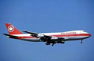 Air Canada - Air Canada Boeing 747-100 in 1965-1993 livery