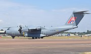 Airbus A400M Atlas (code EC-400) of the Spanish Air Force at RIAT Fairford 12July2018 arp