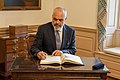 Albanian Prime Minister Rama Signs the Guest Book (49493345401).jpg