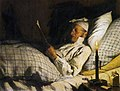 Albert Anker - Bauer, im Bett lesend I.jpg