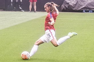 Forward (association football) - United States women's national football team striker Alex Morgan