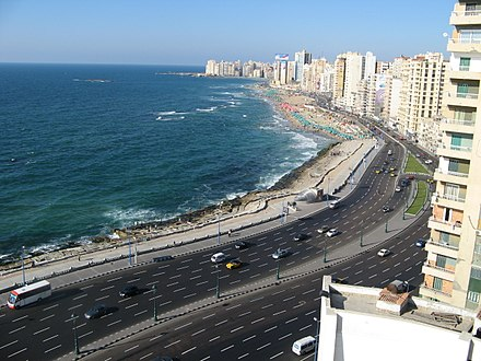 Alexandria, the second largest city on the Mediterranean after Istanbul, Turkey Alexandria coast (2715600220).jpg