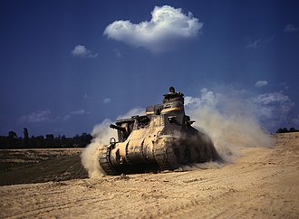 Jacob L. Devers - An M3 Lee tank at Fort Knox