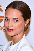 Photo of Alicia Vikander in 2013.