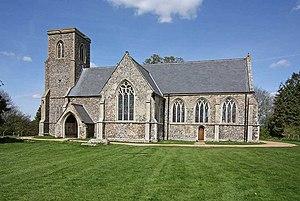 Besthorpe, Norfolk - Image: All Saints Church, Besthorpe, Norfolk geograph.org.uk 1277931
