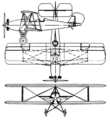 American Eagle A-129 3-view Aero Digest June 1929.png
