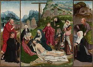 Jan Mostaert - Lamentation, based on the same theme by Geertgen tot Sint Jans