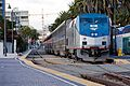 Amtrak 51 at with the Pacific Surfliner at Santa Fe Depot, December 2012.jpg