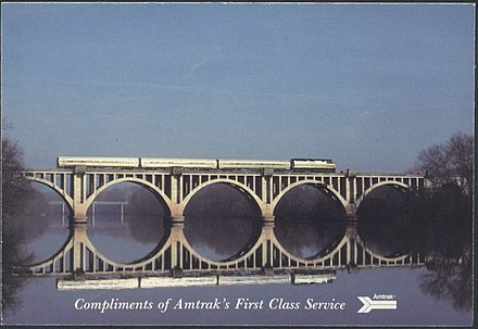 The Colonial at Fredericksburg in the 1980s Amtrak Colonial 1980s postcard.jpg