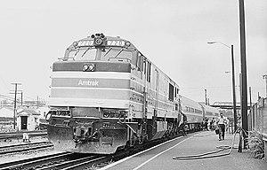 Roanoke station (Virginia) - Image: Amtrak Mountaineer at Roanoke station, May 1977