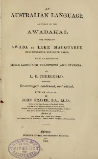 An Australian language as spoken by the Awabakal.djvu