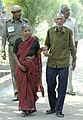 An elderly couple going to cast their vote at a polling booth of East Vinod Nagar, in Delhi during the 4th phase of General Election-2009, on May 7, 2009.jpg