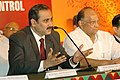 Anbumani Ramadoss addressing the press on the deliberations of a Regional Conference of Ministers of Health & AgricultureLivestock (from countries of South East Asia Region and Pakistan) on Avian Influenza Control and.jpg