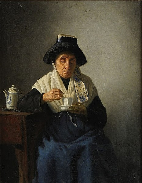 File:Anders Montan Woman with coffee cup.jpg