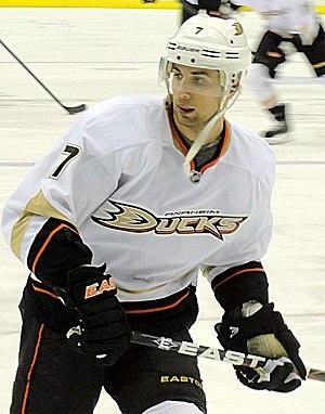 Andrew Cogliano - Cogliano with the Ducks in 2012.