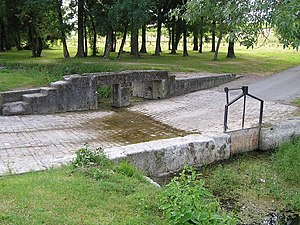 Angeac-Champagne - The ford at the Spring of the Three Stones