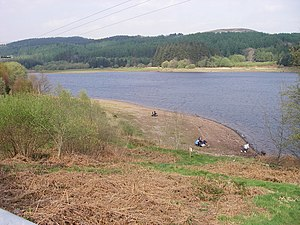 Anglers beside Llwyn-on Reservoir - geograph.org.uk - 409664.jpg