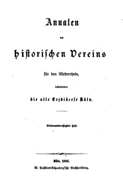 File:Annalen des Historischen Vereins für den Niederrhein 37 (1882).djvu