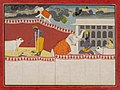 Anonymous - Krishna Blessed by Indra's Elephant, Airavat, an illustration from book 10 of a Bhagavata Purana serie - 2001.138.39 - Yale University Art Gallery.jpg