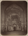 Antiquities of Samarkand. Madrasah of Tillia Kari. Inner Courtyard (Western Side). Prayer Niche (Mihrab) inside the Main Mosque WDL3845.png