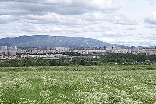 Apatity Town in Murmansk Oblast, Russia