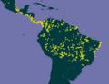Apeiba tibourbou distributional map.png