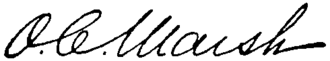 Othniel Charles Marsh - Image: Appletons' Marsh Othniel Charles signature