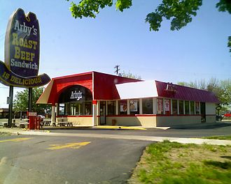 Arby's - An Arby's franchise with vintage sign in Midland, Michigan. Very few locations still carry this sign.
